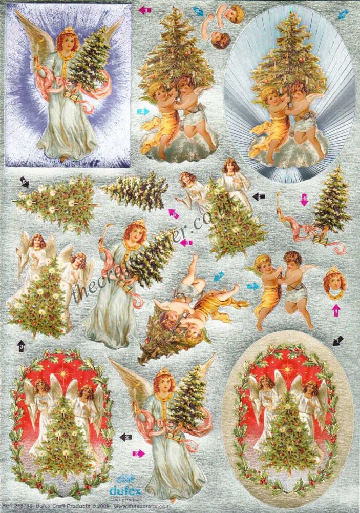 Christmas Angels Die Cut 3d Decoupage From Dufex